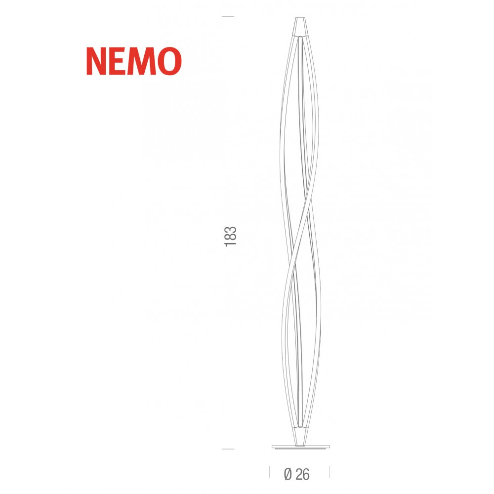 Nemo in the wind floor staanlamp led design verlichting - Nemo verlichting ...